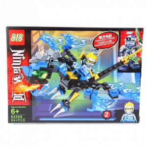 Set de constructie Lego, Lumea Ninja, set 4 cutii diferite, 317 Piese