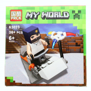 Set de constructie, Minecraft my world, Masina fermecata, 36 piese