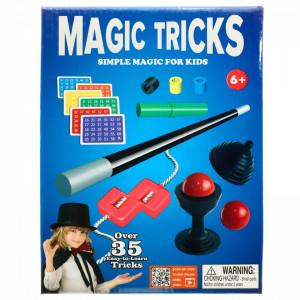 Set magie pentru copii, include peste 35 de trucuri magice foarte usor de invatat.
