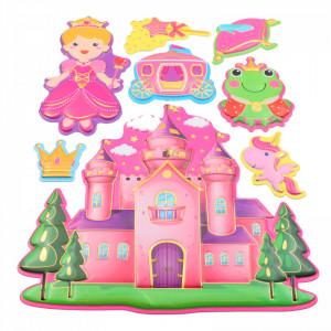Set Sticker 3D pentru copii, Cenusareasa, decor camera, 8 piese, JJ-FD006, Multicolor