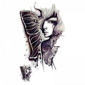 Tatuaj temporar, Fata fluture, GF967, 14 x 9 cm