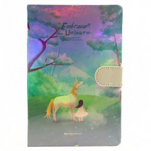 Agenda Embrace the Unicorn, 13 x 19 cm, 244 file, Verde