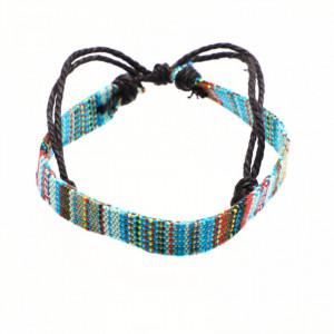 Bratara de dama din material textil, Multicolor, A12, 16 cm