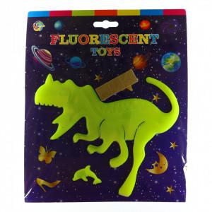 Decoratiune pentru camera copilului, Dinozaur fosforescent, Galben