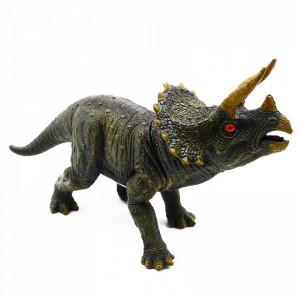 Figurina dinozaur, Triceratops cu sunet reprodus dupa dinozaurul real, 23 cm