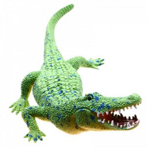 Figurina Reptila, Crocodil, Verde, 22 cm