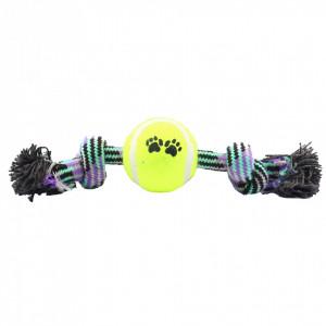 Jucarie pentru caini cu minge de tenis, Mov