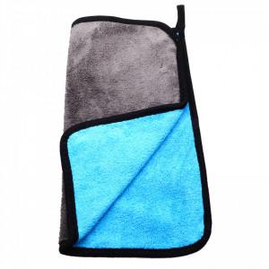Laveta din microfibra, absorbanta, pentru toate suprafetele, 30 x30 cm, Gri cu albastru