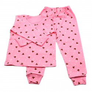Pijamale copii, Model roz cu Mickey, Model Romanesc, Bumbac, 5 - 6 ani, P56P5