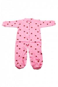 Salopeta bebe cu botosi, Roz cu Mickey, 0 - 3 luni, SB03SB16