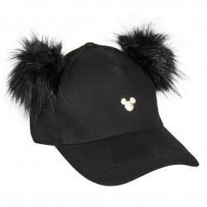 Sapca Mickey cu pampoane, Negru, 56 cm