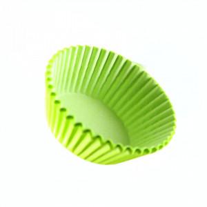 Set 100 bucati, forme de copt din hartie pentru briose, 8cm, Verde