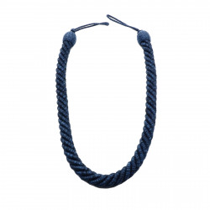 Set 2 buc, Accesorii strangere perdea si draperie, model cordon, 103 x 2 cm, Bleumarin