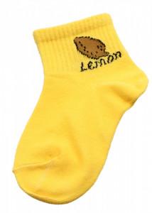 Set 2 bucati, Sosete pentru copii, cu imprimeu Lemon, 1-2 ani, Galben