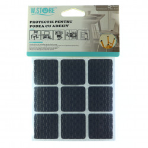 Set 9 bucati, Protectie Antialunecare pentru podea cu adeziv 2.8x2.8cm
