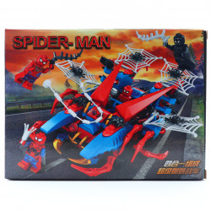 Set de constructie, Black Spiderman si lupta glorioasa, 85 piese