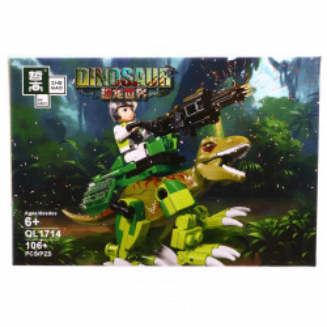 Set de constructie, Dinozaurul cu mitraliera automata, 106 piese