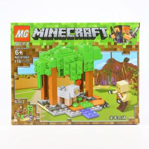 Set de constructie Lego, Padurea cu copaci tip Minecraft, 116 Piese