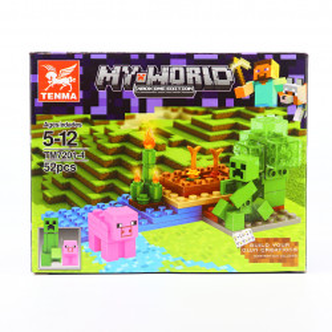 Set de constructie Lego, Taramul porcusorului roz, 52 Piese