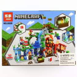 Set de constructie, tip Minecraft, Cascada Fabuloasa, 99 piese
