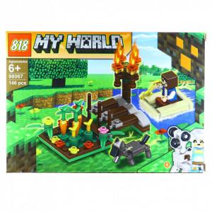 Set de constructie, tip My World, Gradina cu legume, 146 piese
