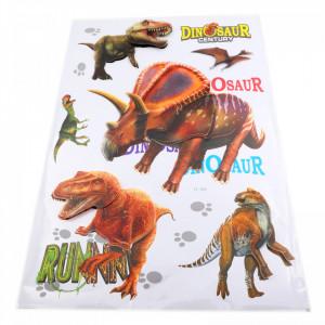 Set Stiker 3D, Dinozauri pentru copii, decor, FL-006 Multicolor