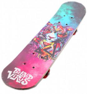 Skateboard pentru copii, 59 x 15 x 10cm, S-1, Multicolor