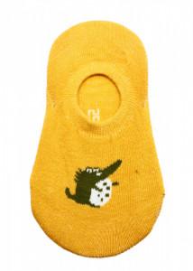 Sosete pentru copii, scurte, cu silicon la calcai, 30-35, Mustar