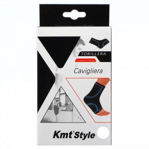 Suport elastic pentru glezna, compatibil cu activitatea fizica, ofera confort si siguranta, marime L, Negru