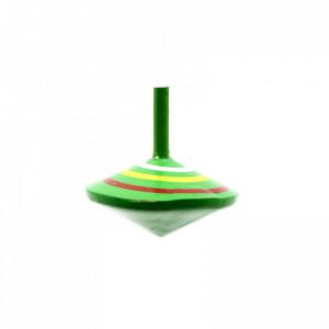 Titirez din lemn, model cercuri, 6 x 5.5 cm, Verde