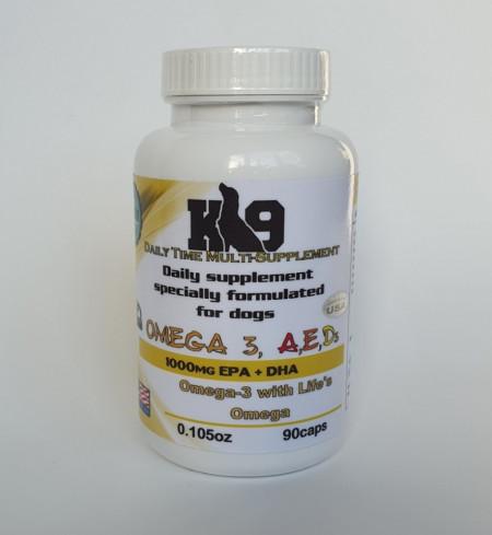 К9 Omega 3-6-9 + Vitamins 90 капсули Супер Промоция!