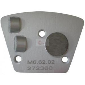 Placa cu segmenti diamantati pt. slefuire pardoseli - segment DPC 2x1/2 - prindere M6 - DXDH.8506.62.02-L