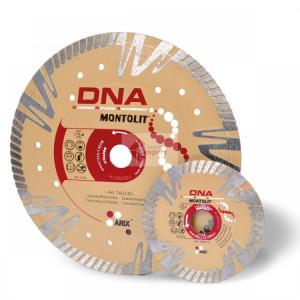 Disc diamantat Montolit DNA TXH115 - taiere uscata - pt. beton, granit, piatra dura, portelan gros, etc.
