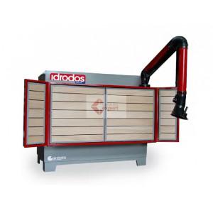 Banc de lucru vertical cu vacuum si exhaustare praf - Idrodos