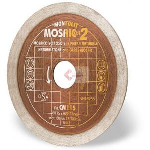 Disc diamantat Montolit CM125 - taiere uscata - pt. mozaic, mozaic din sticla, etc.