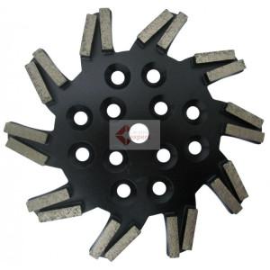 Disc stea cu segmenti diamantati pt. slefuire pardoseli - segment foarte fin - Negru - 250 mm - prindere 19mm - DXDH.8501.250.11.73