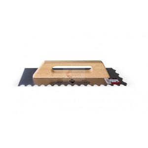Gletiera dintata cu maner din lemn 48cm, R-10mm - RUBI-65987