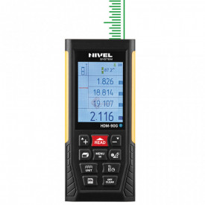 Telemetru cu laser verde & USB/Bluetooth 90m, HDM-90G - Nivel System