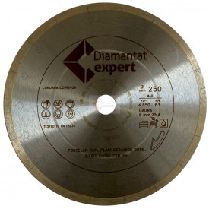 Disc DiamantatExpert pt. Portelan dur, ceramica dura - Ultra Long Life 250x25.4 (mm) Ultra Premium - DXWD.QNBG.250.25