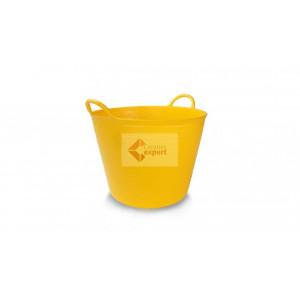 Galeata flexibila din plastic FlexTub 55 Litri - Rubi (galbena)