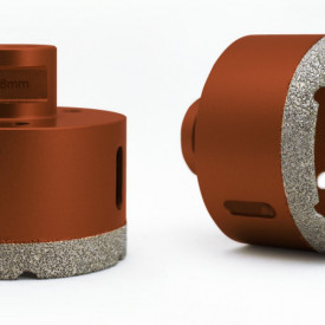 Carota diamantata pt. gresie portelanata & piatra - diam. 75mm - Profesional Standard - DXDY.REDrill.75