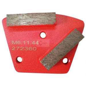 Placa cu segmenti diamantati pt. slefuire pardoseli - segment mediu (rosu) - # 150 - prindere M6 - DXDH.8506.11.46