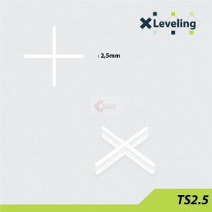 Distantieri ( Cruciulite ) pt. placi - gresie si faianta - Rost 2,5 mm - 500 buc - XLEV-TS2.5-500