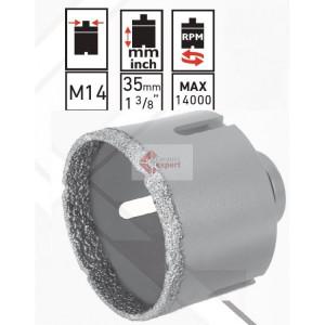 Carota diamantata Rubi EASY DryGres 75 mm - pt. portelan ,granit, ceramica, etc.