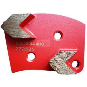 Placa cu segmenti diamantati pt. slefuire pardoseli - segment mediu (rosu) - # 40 - prindere M8 - DXDH.8508.13.44-R
