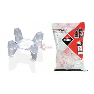 Distantiere Twinflex pt. montare placi ceramice 2-5mm, 100buc. - RUBI-2956