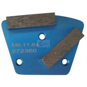 Placa cu segmenti diamantati pt. slefuire pardoseli - segment fin (albastru) # 16 - prindere M6 - DXDH.8506.11.61