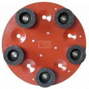 Disc cu 5 pietre oala din carbura de silicon pt. slefuiri placi, Ø490mm, gran. 16 - pt. Maxitina - Raimondi-250