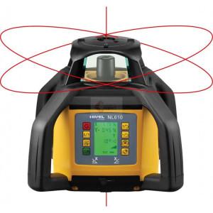 Pachet Nivela Laser Rotativa NL610 DIGITAL cu stadie, trepied si senzor laser pentru utilaje LS-B10 - Nivel System