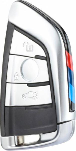 Carcasa Cheie BMW X5 3 Butoane SmartKey X6 Seria 7 Silver Cu M